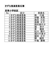 若草小学校区きずな推進委員名簿のサムネイル